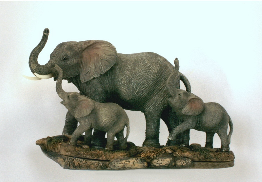 elefant baby tierfigur skulptur elefanten deko garten tier figur afrika statue. Black Bedroom Furniture Sets. Home Design Ideas